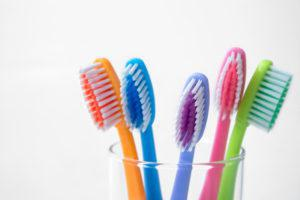 歯ブラシ_除菌_5本の歯ブラシ