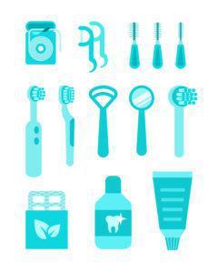 舌磨き_方法のケア用品イメージ